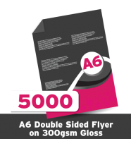 A6 Leaflet 300 GSM Gloss Double Sided 5000