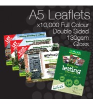 10,000 A5 Leaflets Only 129.00