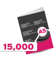 15,000 A5 Booklet