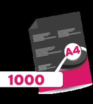1,000 A4  Leaflets