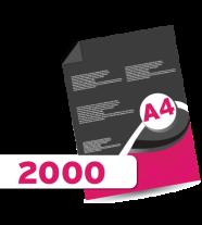 2,000 A4 Leaflets
