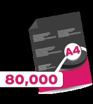 80,000 A4  Leaflets