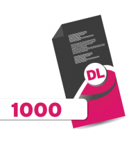 1,000 DL Leaflets