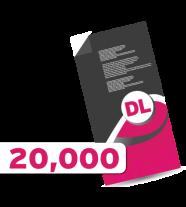 20,000 DL Leaflets
