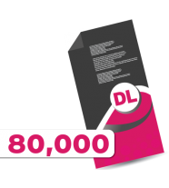 80,000 DL Leaflets