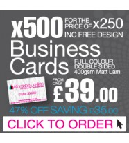 500 Business Cards for the Price of 250 Inc Free Design