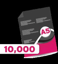10,000 A5 Leaflets