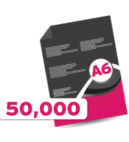 50,000 A6 Leaflets