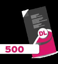 500 DL Leaflets
