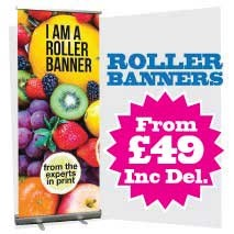 Pop up Banners 800mm x 2000mm