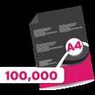 100,000 A4  Leaflets