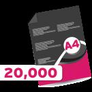 20,000 A4  Leaflets