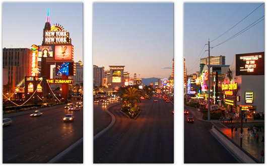 Las Vegas Strip: 3 Panel
