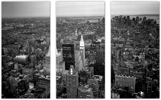 New York Black: 3 Panel