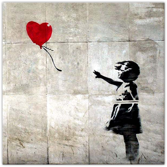 Banksy Balloon: Square