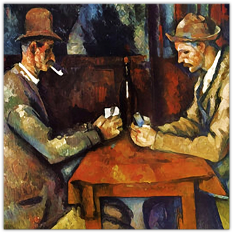 The Card Players: Square