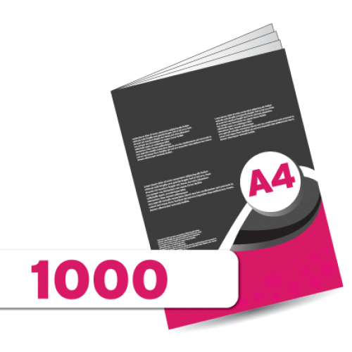 1,000 A3 Leaflets Double Sided folded to A4