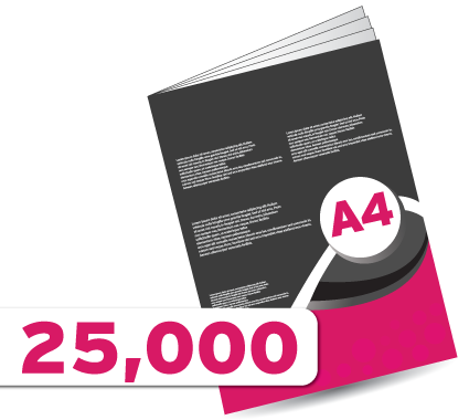 25,000 A4 Booklet