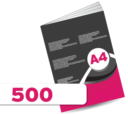 500 A4 Booklet