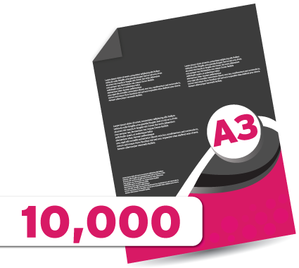 10,000 A3 Leaflets