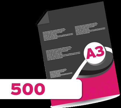 500 A3 Leaflets