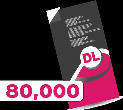 80,000 DL Leaflets