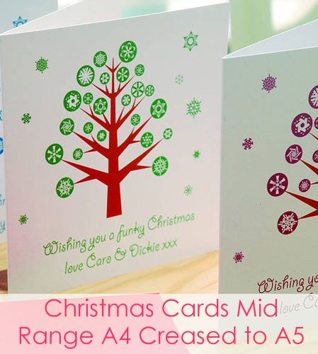 Christmas Cards - Mid Range Square A4 Creased to A5