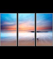 Shore at Dawn Split: 3 Panel
