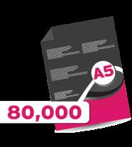 80,000 A5 Leaflets