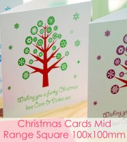 Christmas Cards - Mid Range Square 100x100 Finish