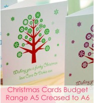 Christmas Cards - Budget Range A5 Creased to A6