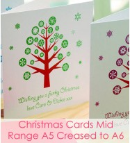 Christmas Cards - Mid Range Square A5 Creased to A6